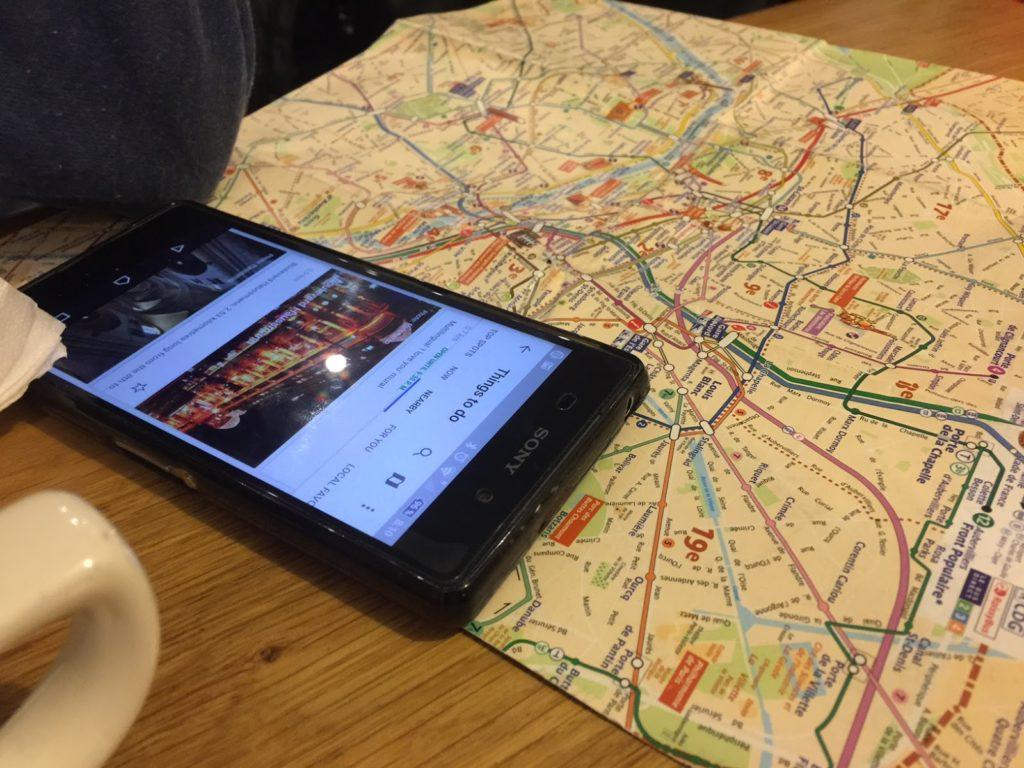 Paris que ver en 3 días imagen de mapa de paris