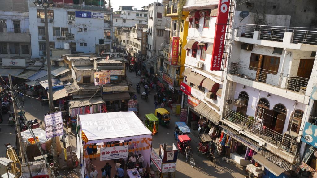 qué ver en delhi, vista desde una terraza del barrio de Paharganj