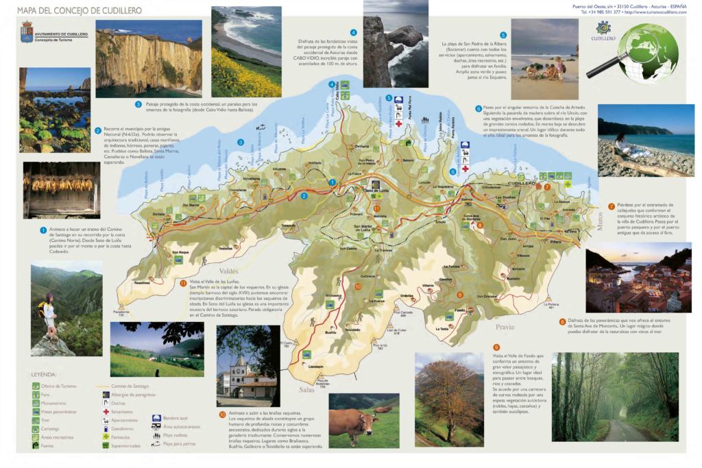 mapa del concejo de cudillero donde podrás ver información sobre esta playa